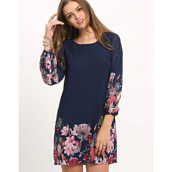 7465a7788097 Boutique Dresses | Plus Size Miss Right Floral Print Shift Dress ...